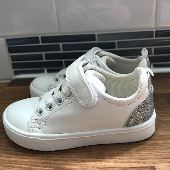 Euc Hm Kids White And Glitter Sneakers